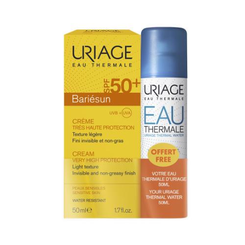 Купить Uriage Набор Барьесан крем SPF 50+, 50 мл + Термальная вода 50 мл (Uriage, Bariesun), Франция