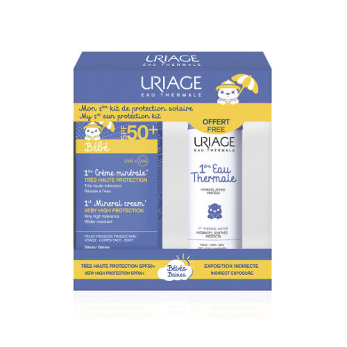 Купить Uriage Набор Первый минеральный крем SPF 50+, 50 мл + Первая Термальная вода 50 мл (Uriage, Детская гамма), Франция