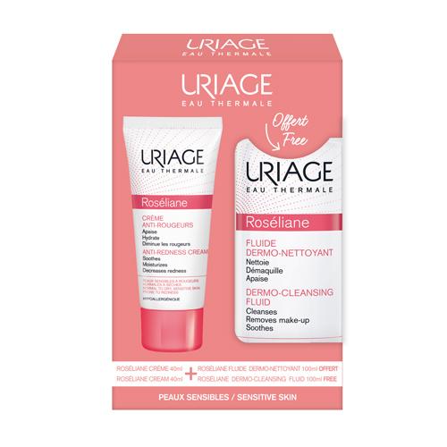 Uriage Набор Розельян: Крем против покраснений 40 мл + Дермоощищающая эмульсия 100 мл (Uriage, Roseliane)