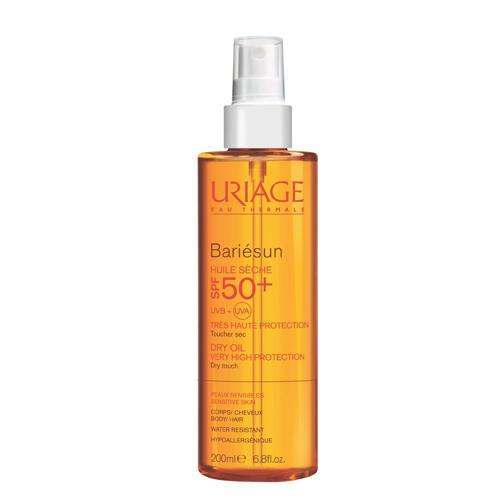 Барьесан Сухое маслоспрей SPF 50, 200 мл (Uriage, Bariesun) сухое масло для волос купить
