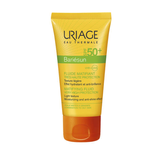 Uriage Барьесан Матирующая эмульсия SPF50+, 50 мл (Uriage, Bariesun) успокаивающий спрей после солнца барьесан 150 мл uriage bariesun
