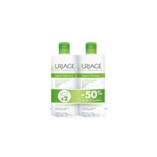 Мицеллярная Вода очищающая для комбинированной и жирной кожи 2х500мл (Uriage, Гигиена Uriage) очищающая мицеллярная вода для гиперчувствительной кожи 250 мл uriage гигиена uriage