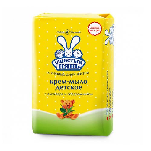 Ушастый нянь Крем-мыло с алоэ вера и подорожником 90 гр (Детское мыло)