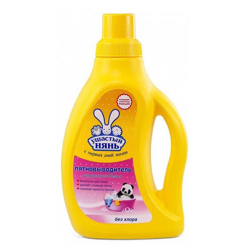 Ушастый нянь Пятновыводитель жидкий для детского белья 750 мл (Средства для стирки для детей)