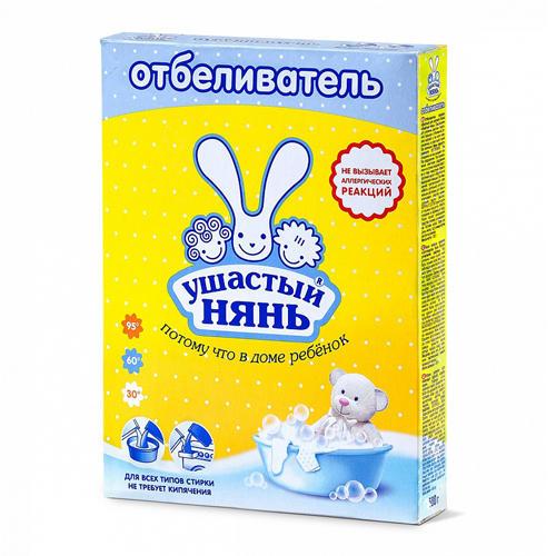 Ушастый нянь Отбеливатель порошкообразный для детского белья 500 гр (Средства для стирки для детей)