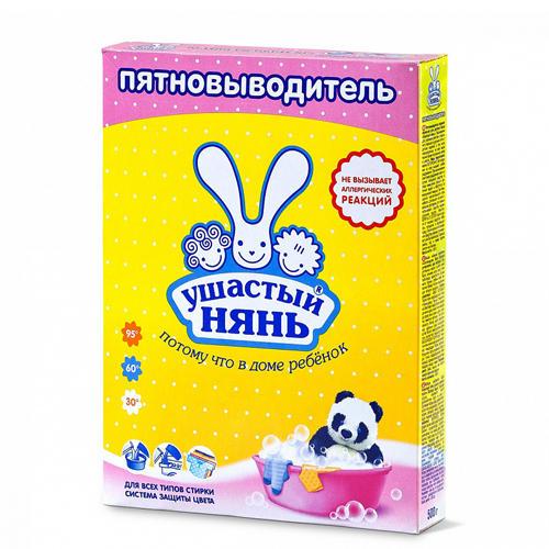 Ушастый нянь Пятновыводитель порошкообразный для детского белья 500 гр (Средства для стирки для детей)
