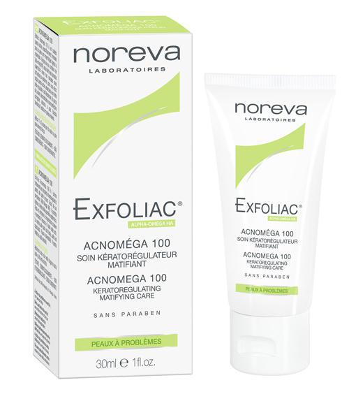 ���������  �������� 100- ���� ��� ������, ��������������� ��������� ���� � ���� � ������ ����� 30 �� (Exfoliac) (Noreva - Merck)