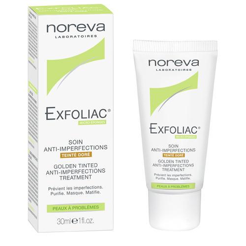 Эксфолиак Тональный крем золотистый 30 мл (Noreva, Exfoliac) крем гель для проблемной и жирной кожи матирующий эффект 50 мл