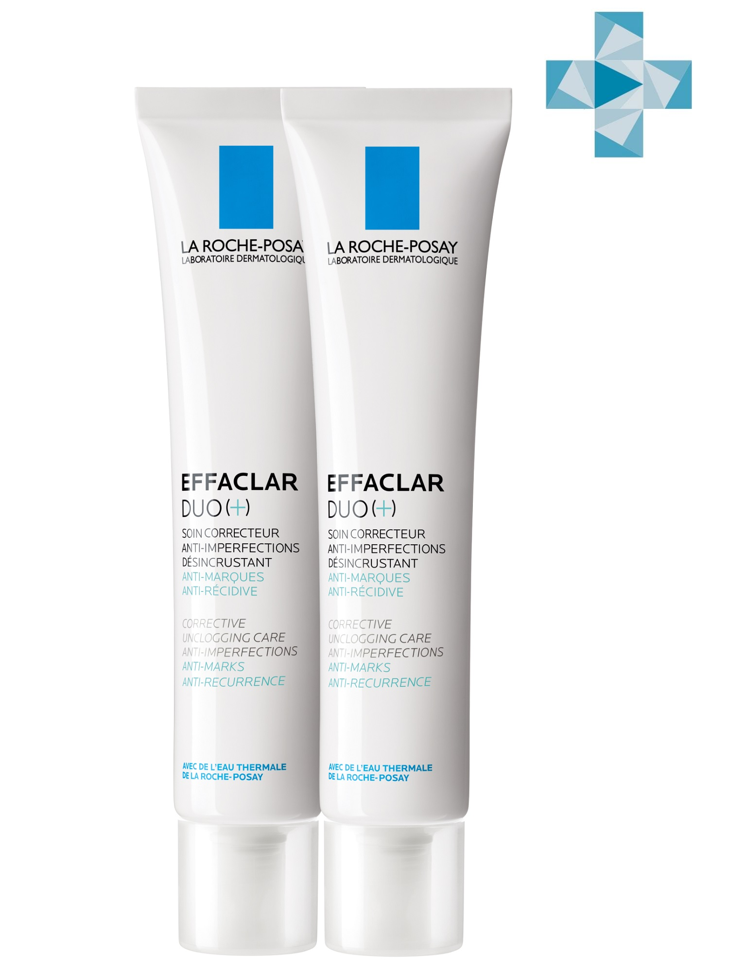 Купить La Roche-Posay Набор Эфаклар ДУО[+] Корректирующий крем-гель для проблемной кожи 2 шт х 40 мл (La Roche-Posay, Effaclar), Франция