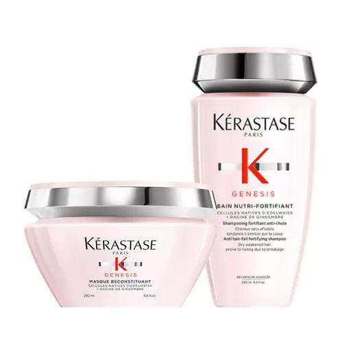 Купить Kerastase Комплект Дженезис: маска + шампунь-ванна (Kerastase, Genesis), Франция