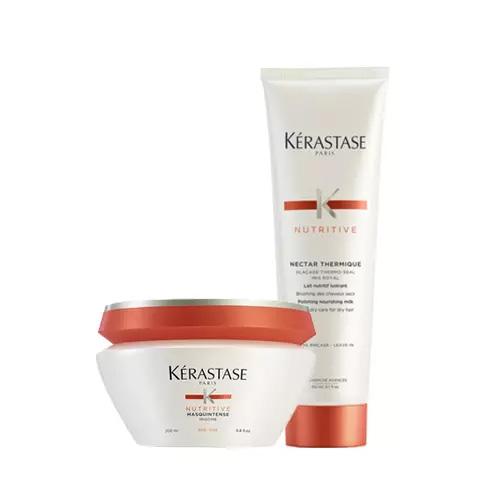 Kerastase Комплект Нутритив: маска + термозащитный уход (Kerastase, Nutritive) kerastase керастаз маска masquintense для сухих и очень чувствительных волос 200 мл kerastase nutritive
