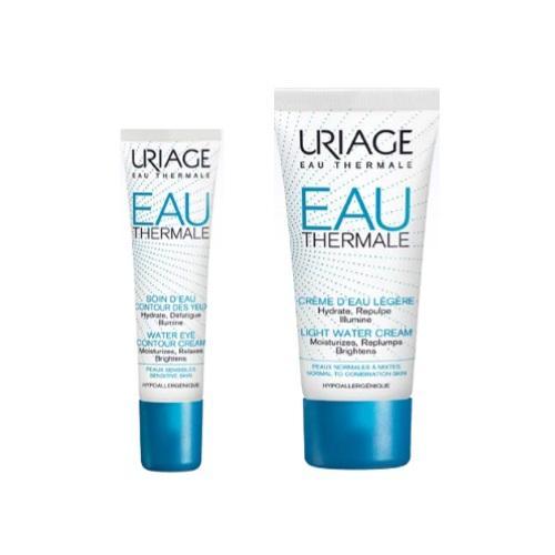 Купить Uriage Комплект Увлажняющий крем для контура глаз, 15мл+Легкий увлажняющий крем, 40мл (Uriage, Eau thermale), Франция