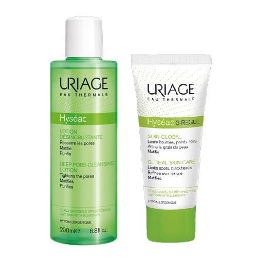 Купить Uriage Комплект Исеак Лосьон для глубокого очищения пор, 200мл+3-Regul Универсальный уход 40мл (Uriage, Hyseac), Франция