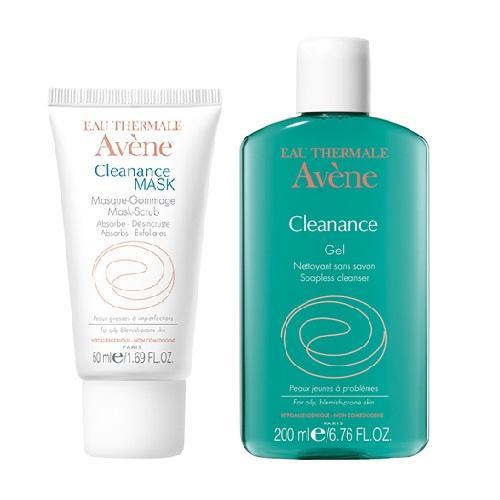 Avene Комплект Клинанс Маска для глубокого очищения, 50мл+Очищающий гель, 200мл (Avene, Cleanance) авен клинанс гель очищающий для жирной и проблемной кожи 300мл