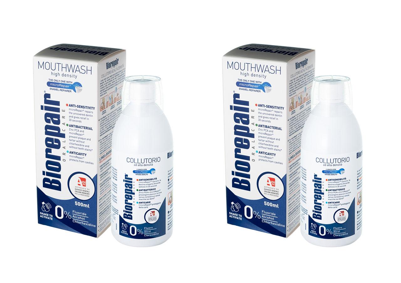 Купить Biorepair Набор Ополаскиватель для полости рта 500 мл*2 штуки (Biorepair, Ежедневная забота), Италия