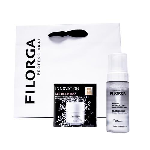 Filorga Набор «Очищение» Мусс для снятия макияжа 150 мл + Отшелушивающая оксигенирующая маска 55 мл (Filorga, Очищающие средства) фото