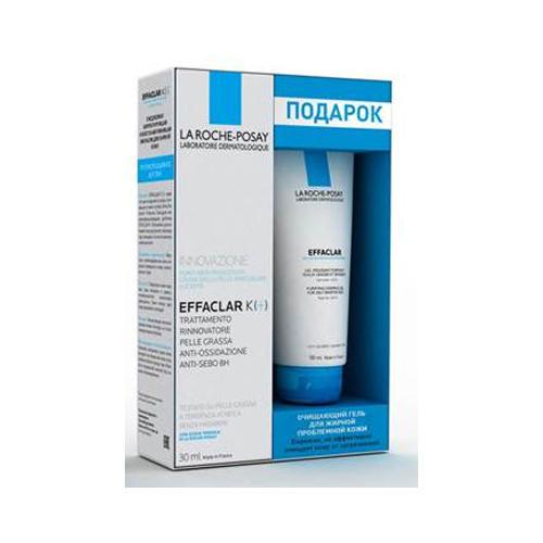Набор Эфаклар К Корректирующая эмульсия для жирной кожи 30 мл Эфаклар очищающий гель 50 мл (La RochePosay, Effaclar) эфаклар мат купить