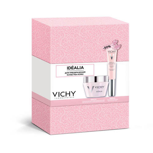 Набор 8 марта Идеалия для нормальной кожи 50 мл Крем для глаз 15 мл (Vichy, Idealia) виши идеалия крем для сухой кожи 50 мл