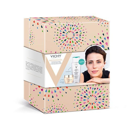 Набор Неовадиол Дневной крем для нормальной и комбинированной кожи Мицеллярный лосьон 200 мл (Vichy, Neovadiol)