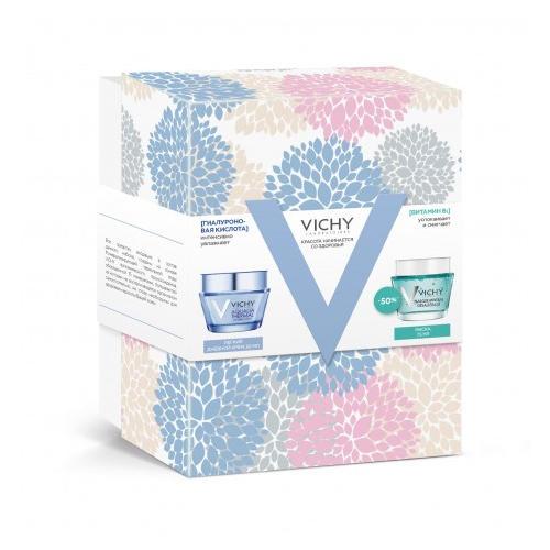 Vichy Набор Аквалия Термаль: Легкий крем 50 мл + Успокаивающая маска 75 мл (Aqualia Thermal)