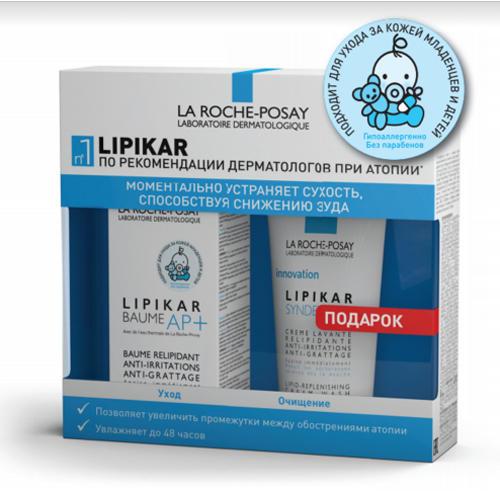 La Roche-Posay Набор Липикар: Бальзам Липикар АП+ 75 мл + Очищающий гель-крем Синдэт АП+ 100 мл (Lipikar)