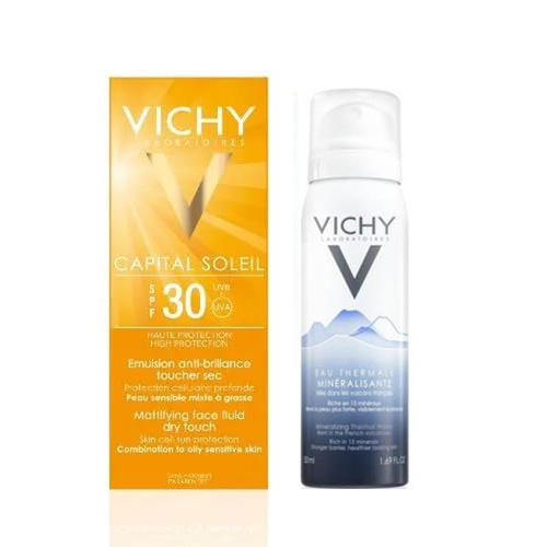 Матирующая эмульсия для лица Драй Тач SPF30, 50мл Термальная вода 50 мл (Vichy, Ideal Soleil) vichy вода