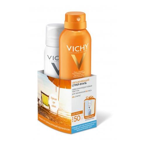 Vichy Увлажняющий спрей-вуаль SPF50, 200 мл + Термальная Вода 50 мл (Ideal Soleil)
