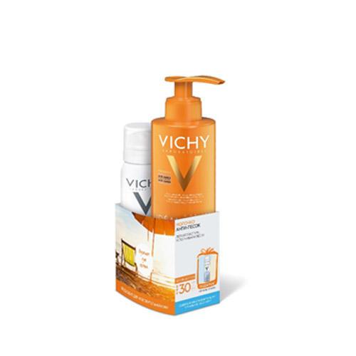 Молочко Антипесок SPF 30, 200 мл Термальная Вода 50 мл (Vichy, Ideal Soleil) vichy набор для путешествий vichy ideal soleil 3 30 100 30 30 10 мл