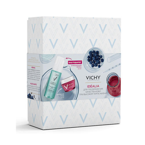 Набор Идеалия для нормальной и комбинированной кожи 50 мл Пенка Purete Thermal 150 мл (Vichy, Idealia) виши идеалия пилинг
