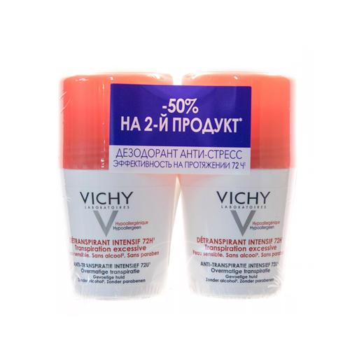 Дезодорантантистресс 72 часа защиты 50 мл х 2 шт. (Vichy, Deodorant)