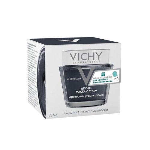 Купить Vichy Виши Детокс-маска с древесным углем 75 мл + Шпатель (Vichy, Masque), Франция