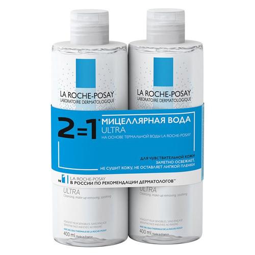 Фото - La Roche-Posay Мицеллярная вода для чувствительной кожи, 400 мл х 2 шт. (La Roche-Posay, Physiological Cleansers) la roche posay мицеллярная вода effaclar ultra 400 мл х 2 шт la roche posay effaclar