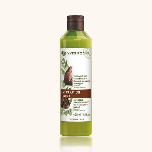 Шампунь для Восстановления с Жожоба 300 мл (Yves Rocher, Для волос) yves rocher yves rocher питательный крем для умывания