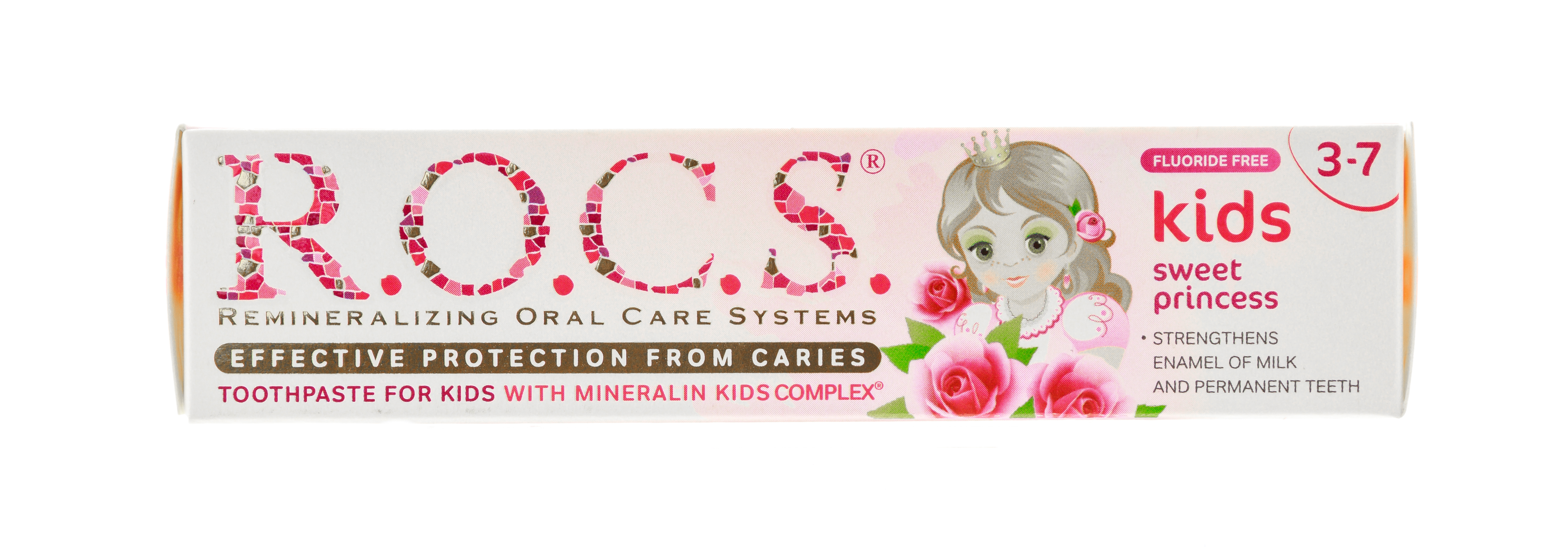 Рокс Зубная паста Kids Sweet Princess с ароматом Розы, 45 г (R.O.C.S, Kids 3-7 years) фото 6