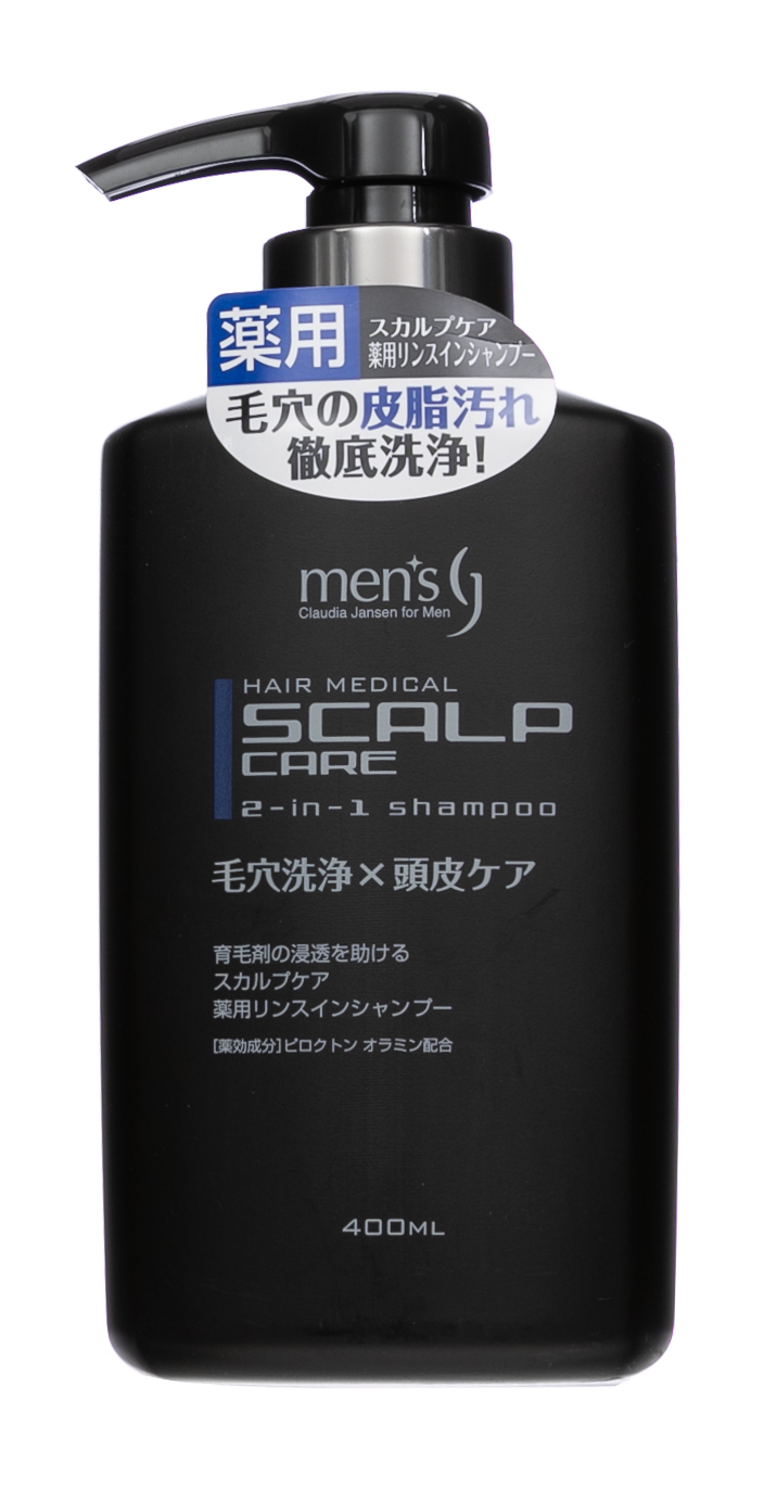 Купить Kumano cosmetics CJ medicated scalp shampoo men's rinse in type 400 мл 1/24 (Kumano cosmetics, Шампуни для волос), Япония