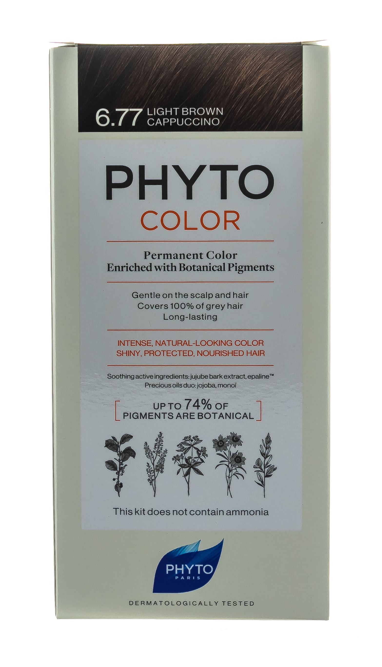 Купить Phyto Краска для волос светлый каштан - капучино, 1 шт (Phyto, Phyto Color), Франция