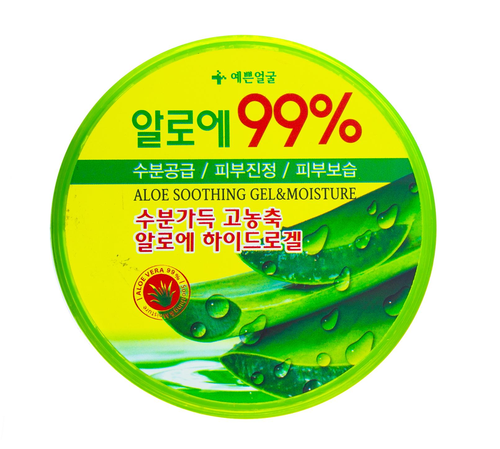 Купить Well Being Гель для лица и тела с 99% алоэ Успокаивающий и Увлажняющий 300гр (Well Being, Для тела), Южная Корея
